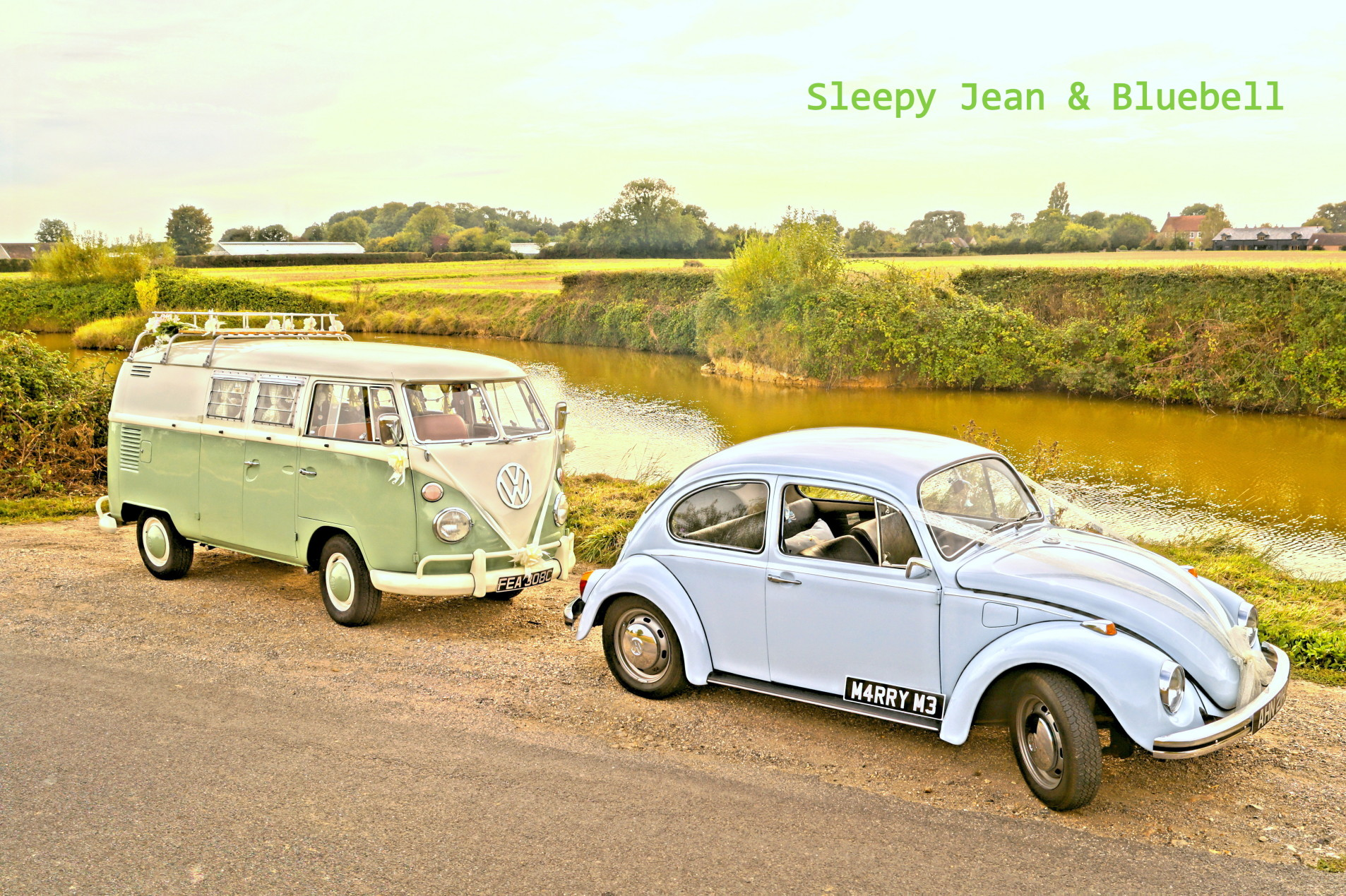 VW wedding campervan and beetle car hire in Hampshire and West Sussex
