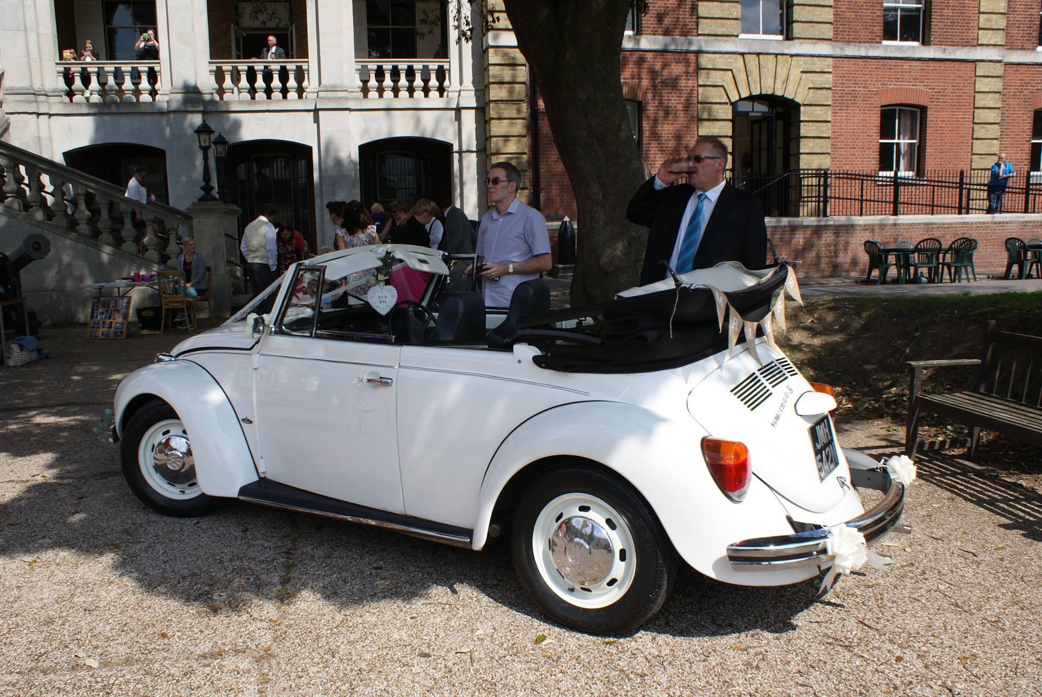 White vw beetle weddings convertible wedding beetle in hampshire junglespirit Images