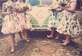 green vw wedding campervan hire