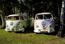 VW wedding campervan beetle hire in Hampshire