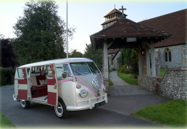 VW wedding campervan beetle hire Hampshire