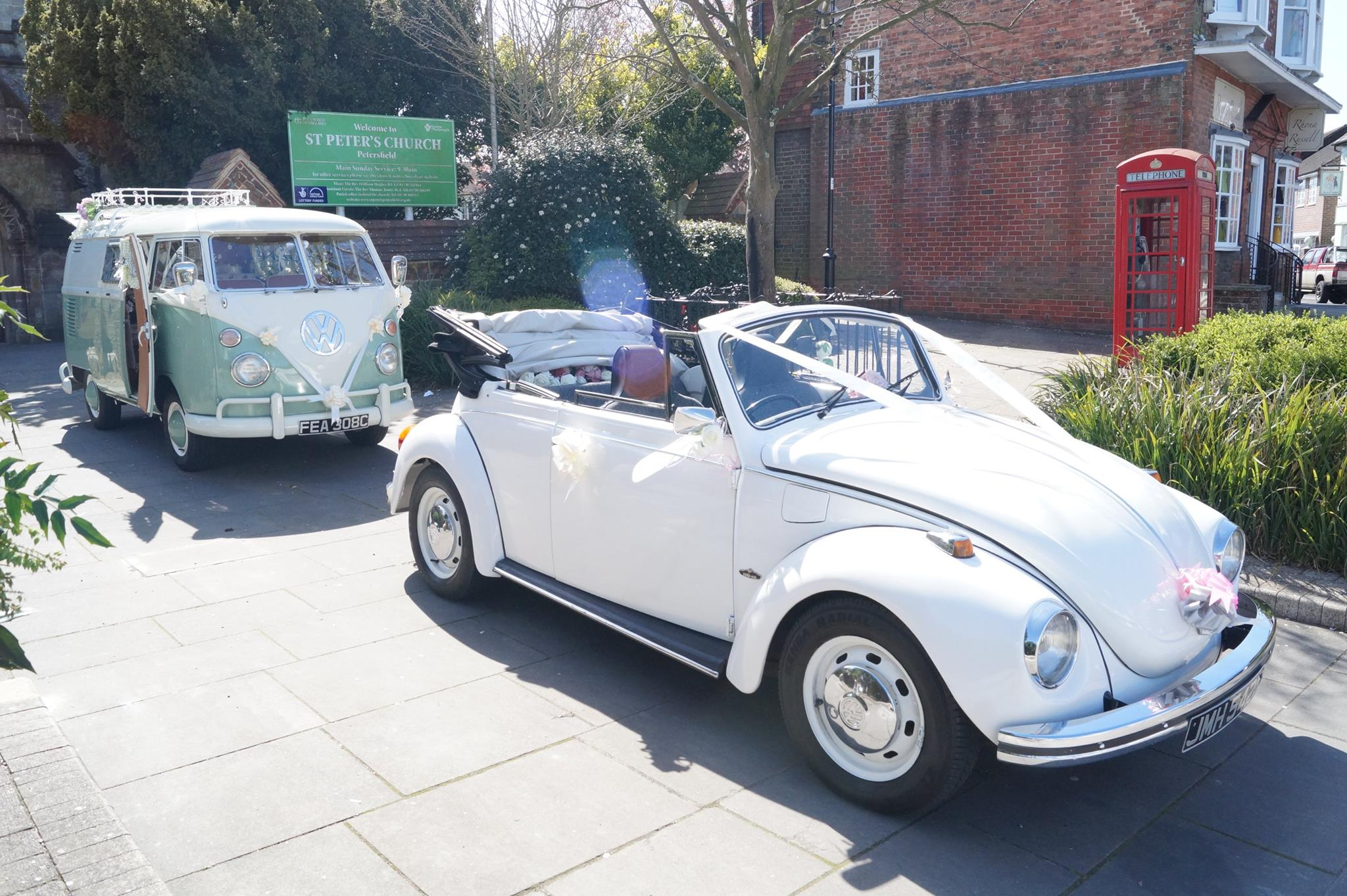 White vw beetle weddings white vw beetle hampshire wedding junglespirit Choice Image